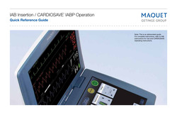 Cardiosave IABP Quick Reference Guide