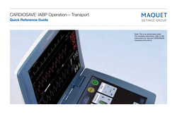 Cardiosave IABP Operation Transport Quick Reference Guide